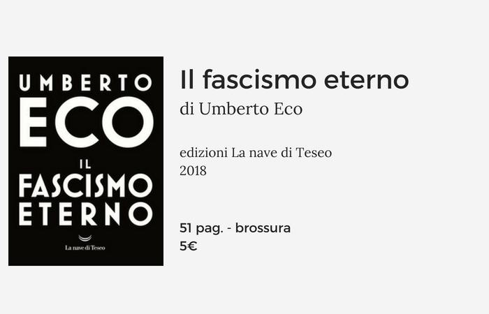 il fascismo eterno di umberto eco scheda libro