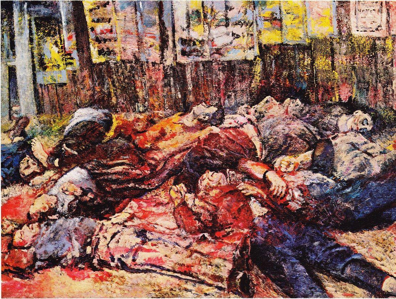 Aligi Sassu, Martiri di Piazzale Loreto o La guerra civile, olio su tela, 1944, Galleria nazionale d'arte moderna e contemporanea, Roma